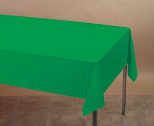 "EMERALD Plastic lined paper rectangle tablecloth-cover 54""x108"" 710201B"