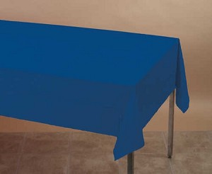 "NAVY BLUE Plastic lined paper rectangle tablecloth-cover 54""x108"" 710242B"