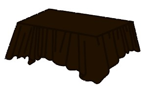 "54""x108"" plastic rectangle tablecover CHOCOLATE BROWN"
