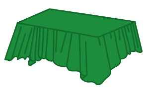 "54""x108"" plastic rectangle tablecloth EMERALD GREEN"