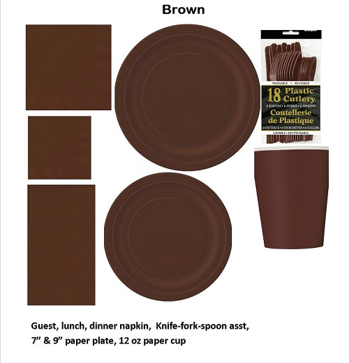 BROWN tableware