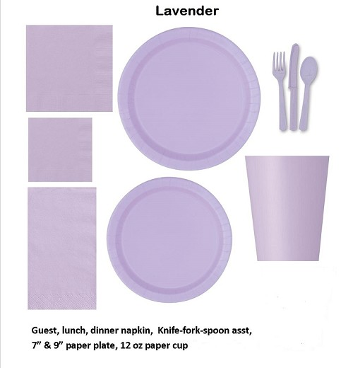 Lavender tableware CLOSEOUT