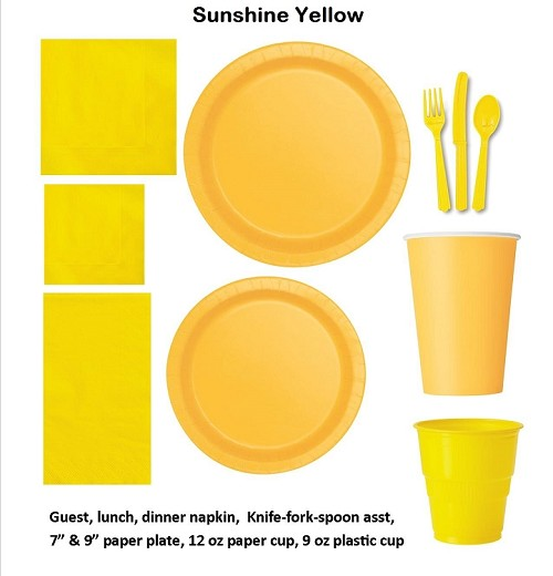 SUNFLOWER YELLOW tableware