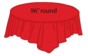 "96"" round plastic tablecloth RED"