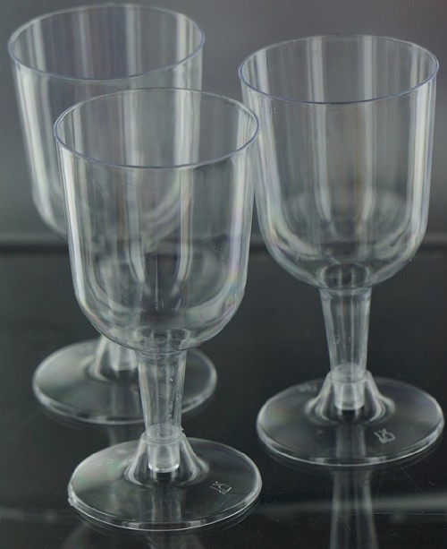 Economy clear plastic wine Glass (12ct)