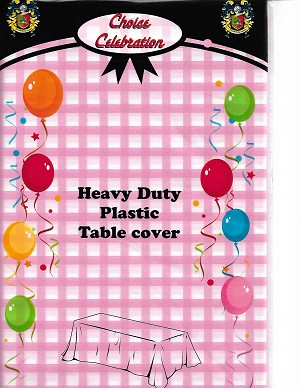 "Pink Gingham Tablecloth 54""x108"""