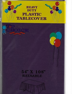 "PLUM 54""x108"" plastic rectangle tablecover"