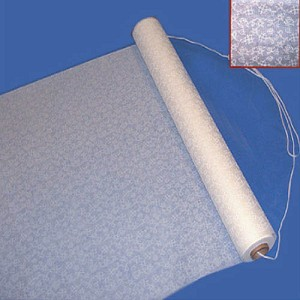 "36""x100' white lace aisle runner"
